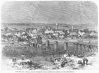 0090734 © Granger - Historical Picture ArchiveCIVIL WAR: FREDERICKSBURG.   Fredericksburg, Virginia, following the battle of 13 December 1862. Wood engraving from a contemporary English newspaper.