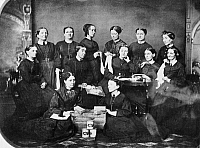 0130277 © Granger - Historical Picture ArchiveSOLDIERS' AID SOCIETY, 1863.   Members of the Soldiers' Aid Society, Springfield, Illinois, c1863, during the American Civil War.