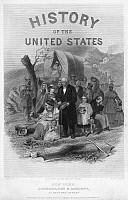 0268669 © Granger - Historical Picture ArchiveHISTORY BOOK, 1866.   'Incident in the War for the Union.' Cover for a volume of John Spencer's 'History of the United States.' Engraving from a painting by Alonzo Chappel, 1866.