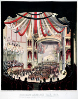 0325657 © Granger - Historical Picture ArchiveSANITARY FAIR, 1864.   'Brooklyn Sanitary Fair, 1864. Interior view of the Academy of Music as seen from the dress circle.' Lithograph, 1864.