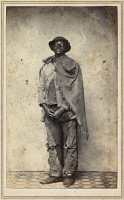 0528912 © Granger - Historical Picture ArchiveCIVIL WAR: RUNAWAY, c1863.   Portrait of an unidentified runaway slave. Photograph, c1863.