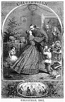 0052568 © Granger - Historical Picture ArchiveCIVIL WAR: CHRISTMAS.   Furlough, Christmas 1863. Detail of a wood engraving after Thomas Nast from an American newspaper of December 1863.