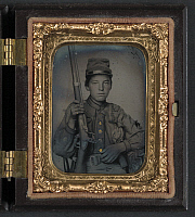 0264455 © Granger - Historical Picture ArchiveCIVIL WAR: SOLDIER, c1863.   Portrait of Sergeant William T. Biedler, 16 years old, of Company C, Mosby's Virginia Cavalry Regiment. Ambrotype, c1863.