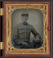 0264997 © Granger - Historical Picture ArchiveCIVIL WAR: SOLDIER, c1863.   Portrait of Confederate soldier. Ambrotype, c1863.