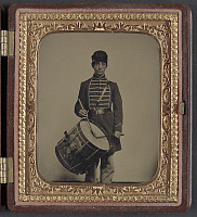 0265003 © Granger - Historical Picture ArchiveCIVIL WAR: DRUMMER, c1863.   Portrait of a Union Army drummer. Ambrotype by Sewall Shattuck, c1863.