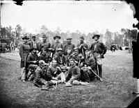 0408986 © Granger - Historical Picture ArchiveCIVIL WAR: OFFICERS, 1862.  Union brigade officers of the Horse Artillery commanded by Lt. Col. William Hays, Fair Oaks, Virginia. Photograph by James F. Gibson, 1862.