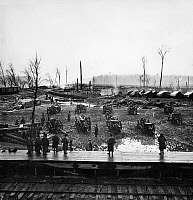 0016966 © Granger - Historical Picture ArchiveCIVIL WAR: WEAPONS, 1864.   Camp of the Tennessee Colored Battery at Johnsonville, Tennessee, 1864.