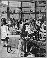 0175139 © Granger - Historical Picture ArchiveMEXICAN TEXTILE FACTORY.  Women workers making coffee bags in a textile factory in Santa Gertrudis, Veracruz, Mexico. Photograph, mid 19th century.