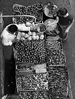 0267786 © Granger - Historical Picture ArchiveBROOKLYN: MARKET, 1962.   A pushcart produce stand on Belmont Avenue in Brownsville, Brooklyn, New York. Photograph by Alan Fisher, 1962.