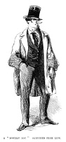 0065729 © Granger - Historical Picture ArchiveNY GANGS: BOWERY BOY, 1857.   A member of the New York gang, the Bowery Boys: American wood engraving, 1857.