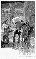 0041530 © Granger - Historical Picture ArchiveMAFIA KILLING, 1890.   The killing, 15 October 1890, at New Orleans, of Chief of Police David Hennessey, who had been investigating crimes connected with the Mafia.