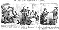 0013046 © Granger - Historical Picture ArchivePOLICE CORRUPTION CARTOON.   An 1859 newspaper cartoon comment on the corruption and inefficiency of the New York City police.