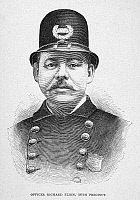 0092806 © Granger - Historical Picture ArchiveNEW YORK POLICE OFFICER.   A member of the New York City police force, late 19th century.