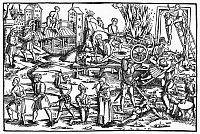 0102901 © Granger - Historical Picture ArchiveTORTURE OF HERETICS, 1512.   Varieties of torture inflicted on accused heretics. Woodcut, Augsburg, 1512.