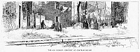 0057634 © Granger - Historical Picture ArchiveJEWISH CEMETERY, 1891.   'The Old Hebrew Cemetery at Chatham Square.' Drawing, 1891, by W.A. Rogers.