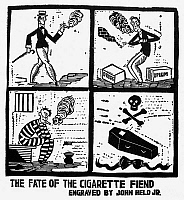 0038317 © Granger - Historical Picture ArchiveJOHN HELD, JR: CARTOON, 1925.   'The Fate of the Cigarette Fiend.' Illustration, c1925, by John Held, Jr.