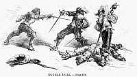 0045173 © Granger - Historical Picture ArchiveDOUBLE DUEL.   Line engraving, 19th century.