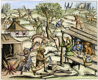 0082661 © Granger - Historical Picture ArchiveFRANCE: DAILY LIFE, 1517.   Country life. Woodcut, French, 1517.