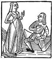 0012502 © Granger - Historical Picture ArchiveTHE PROPOSAL, 1503.   Woodcut, French, 1503.