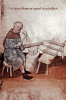0039527 © Granger - Historical Picture ArchiveA FILEMAKER, 1417.   German manuscript illumination.