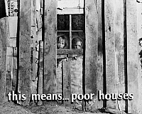 0107898 © Granger - Historical Picture ArchivePOVERTY FILM STRIP, 1942.   Frame from a film strip about poverty in America, 1942.