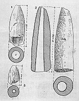 0167890 © Granger - Historical Picture ArchiveNEOLITHIC PHALLUS FIGURES.   Diagram illustrating clay phallic figures of the Cucuteni culture, from Habasesti, northeastern Romania, 4th millennium B.C.