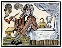 0091100 © Granger - Historical Picture ArchiveSIR JOHN BARLEYCORN.   'Sir John Barleycorn,' the British personification of alcoholic beverages. Woodcut, English, 18th century.