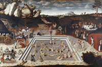 0020632 © Granger - Historical Picture ArchiveTHE FOUNTAIN OF YOUTH.   By Lucas Cranach, the younger. Oil on wood.