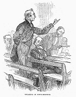 0016309 © Granger - Historical Picture ArchiveTOWN MEETING, 19th CENTURY.   Wood engraving, 19th century.