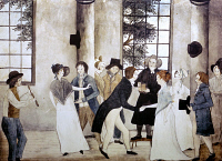 0102784 © Granger - Historical Picture ArchiveAMERICAN WEDDING, c1805.   'The Wedding.' Pen and watercolor by an unknown artist, c1805.