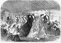 0264516 © Granger - Historical Picture ArchiveROYAL WEDDING, 1866.   'The marriage of Princess Mary of Cambridge and Prince Teck: Procession from the church.' Engraving, 1866.