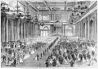 0264557 © Granger - Historical Picture ArchiveRUSSIA: ROYAL WEDDING, 1866.   'The marriage at St. Petersburg: State ball in the St. George's Hall of the Winter Palace.' Engraving, 1866.