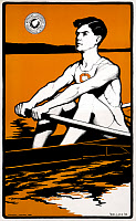 0527654 © Granger - Historical Picture ArchiveSYRACUSE UNIVERSITY, c1905.   Poster promoting rowing at Syracuse University. Lithograph, c1905.