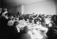 0108563 © Granger - Historical Picture ArchiveELEMENTARY SCHOOL, c1908.   Lunch room at the East Side Free School for Crippled Children in New York City, c1908.