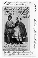 0003313 © Granger - Historical Picture ArchiveFREEDMEN SCHOOL, 1863.   Isaac and Rosa, emancipated slave children. Souvenir carte-de-visite photograph, 1863, sold in the northern states during the American Civil War for the benefit of the Freedmen Schools of Louisiana.
