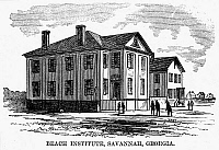0077478 © Granger - Historical Picture ArchiveFREEDMEN SCHOOL, 1868.   'Beach Institute, Savannah, Georgia.' Wood engraving, 1868.