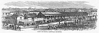 0092992 © Granger - Historical Picture ArchiveFISK UNIVERSITY, 1868.   Fisk University, established in 1866 as a school for freedmen at Nashville, Tennessee. Wood engraving, American, 1868.