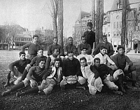 0093053 © Granger - Historical Picture ArchiveHAMPTON: FOOTBALL TEAM.   Football team of Hampton Institute, Virginia. Photographed by Frances Benjamin Johnston, c1900.