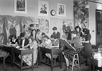 0118089 © Granger - Historical Picture ArchiveHIGH SCHOOL CLASS, 1939.   Students in an art class at Anacostia High School in Washington, D.C., 1939.