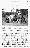 0014745 © Granger - Historical Picture ArchiveMcGUFFEY'S READER, 1879.   Lesson page from an edition of William Holmes McGuffey's 'First Eclectic Reader,' 1879.