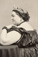 0000807 © Granger - Historical Picture ArchiveFAT LADY, 19th CENTURY.   Hannah Battersby, a 700-lb. American circus 'fat lady.' Photograph, 19th century.