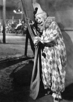 0091795 © Granger - Historical Picture ArchiveSILENT FILM STILL: CLOWN.   A harlequin clown. Still from the motion picture '4 Devils,' directed by F.W. Murnau, 1928.
