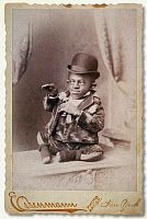 0130624 © Granger - Historical Picture ArchiveTURTLE BOY, c1895.   George Williams, born with misshapen limbs and standing 18 inches tall, toured with circuses as 'Turtle Boy.' Photograph, c1895.