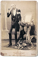 0130628 © Granger - Historical Picture ArchiveJAMES W. COFFEY (1852-?).   American sideshow performer, known as 'The Skeleton Dude.' Photograph, c1895.