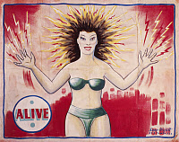 0130633 © Granger - Historical Picture ArchiveSIDESHOW POSTER, c1965.   Sideshow poster by Snap Wyatt featuring the 'Electric Girl,' c1965.