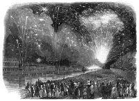 0061021 © Granger - Historical Picture ArchiveFIREWORKS IN PARIS, 1847.   Wood engraving, English.
