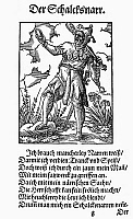 0098622 © Granger - Historical Picture ArchiveJESTER, 1568.   Woodcut, 1568, by Jost Amman.