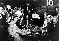 0130095 © Granger - Historical Picture ArchiveRENO: GAMBLING, 1910.   Spectators observing a game of faro at a casino in Reno, Nevada, 1910.