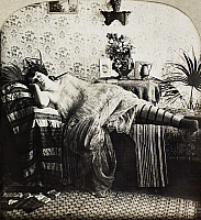 0097121 © Granger - Historical Picture ArchiveSLEEPING WOMAN, c1900.   From the stereograph series 'Sleeping Beauty,' c1900.