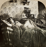 0097123 © Granger - Historical Picture ArchiveSLEEPING WOMAN, c1900.   From the stereograph series 'Sleeping Beauty,' c1900.